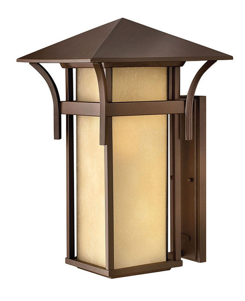Hinkley Outdoor Harbor Collection Extra Large Wall Mount Lantern in Anchor Bronze, 2579AR-LED