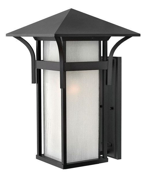 Hinkley Outdoor Harbor Collection Extra Large Wall Mount Lantern in Satin Black, 2579SK-LED