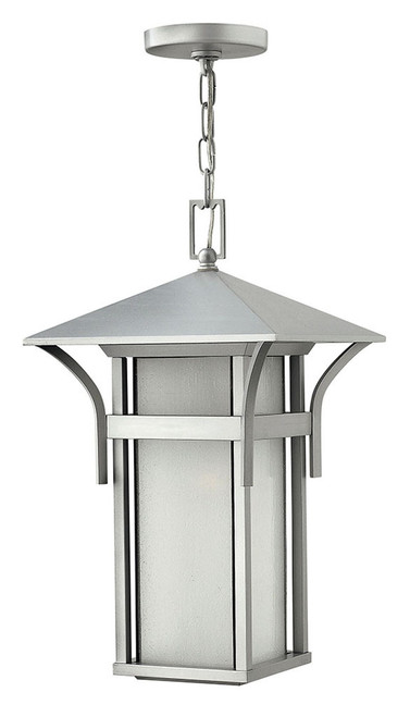Hinkley Outdoor Harbor Collection Large Hanging Lantern in Titanium, 2572TT-LED