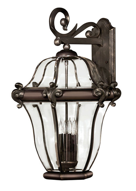 Hinkley Outdoor San Clemente Collection Extra Large Wall Mount Lantern in Copper Bronze, 2446CB