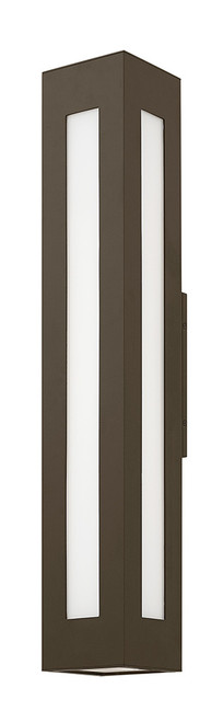 Hinkley Outdoor Dorian Collection Extra Large Wall Mount Lantern in Bronze, 2198BZ