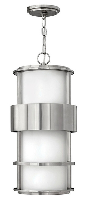 Hinkley Outdoor Saturn Collection Large Hanging Lantern in Stainless Steel, 1902SS-LED