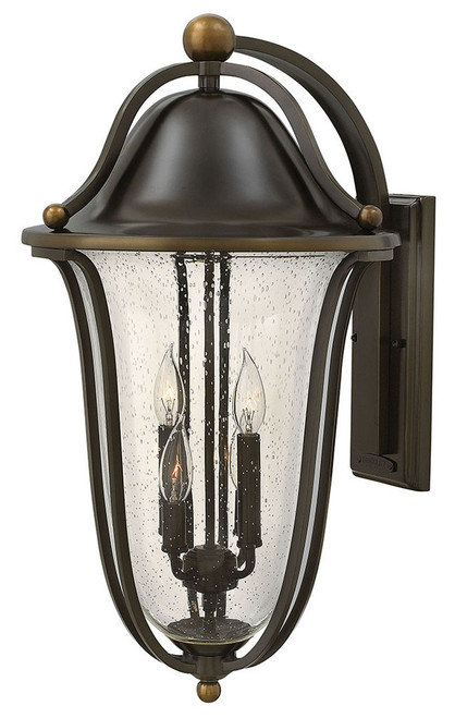 Hinkley Outdoor Bolla Collection Extra Large Wall Mount Lantern in Olde Bronze, 2649OB