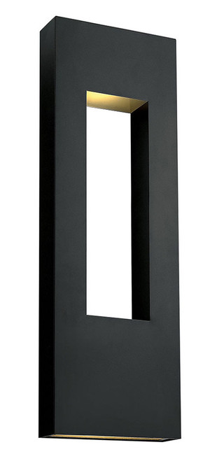 Hinkley Outdoor Atlantis Collection Extra Large Wall Mount Lantern in Satin Black, 1639SK-LED