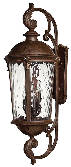 Hinkley Outdoor Windsor Collection Extra Large Wall Mount Lantern in River Rock, 1929RK
