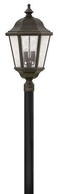 Hinkley Outdoor Edgewater Collection Extra Large Post or Pier Mount Lantern in Oil Rubbed Bronze, 1677OZ