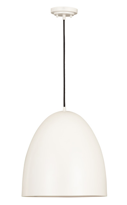 Z-Lite Z Studio Dome Pendant Collection 3 Light Pendant in Matte White