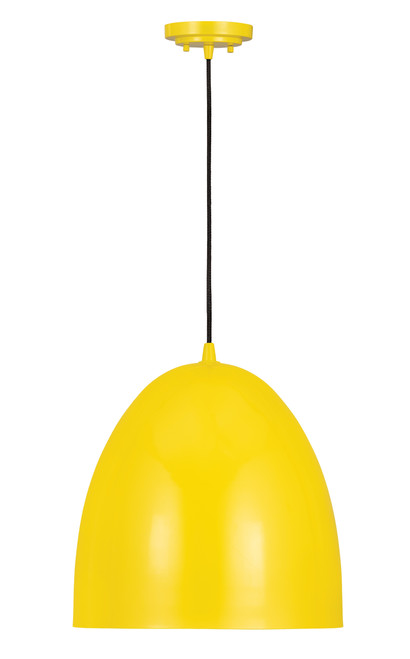 Z-Lite Z Studio Dome Pendant Collection 3 Light Pendant in Yellow