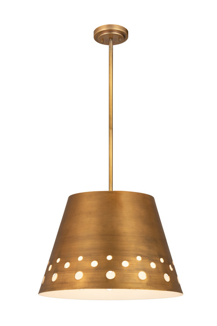 Z-Lite Katie Collection 1 Light Chandelier in Rubbed Brass