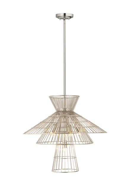 Z-Lite Alito Collection 6 Light Chandelier in Polished Nickel