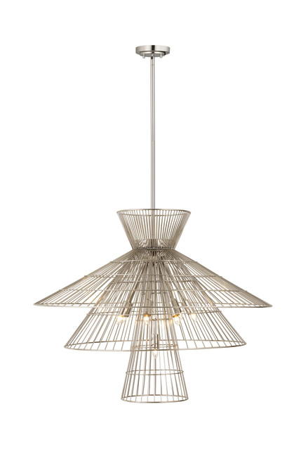 Z-Lite Alito Collection 8 Light Chandelier in Polished Nickel