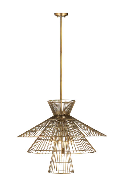 Z-Lite Alito Collection 8 Light Chandelier in Rubbed Brass