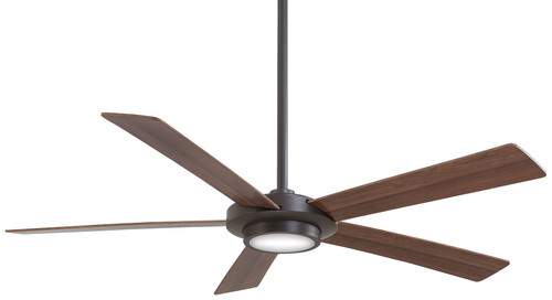 "Minka Aire 52"" 5-Blade Sabot LED Ceiling Fan with Remote Control"