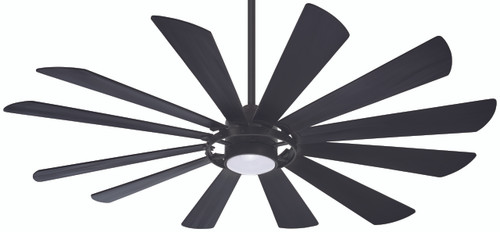 "Minka Aire 65"" 12-Blade Windmolen LED Ceiling Fan with Remote Control Included"