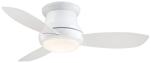 "Minka Aire 44"" 3-Blade LED Concept II Flush Mount Ceiling Fan with Remote Control"