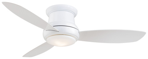 "Minka Aire 52"" 3-Blade LED Concept II Flush Mount Ceiling Fan with Remote Control"