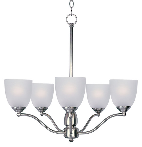 Maxim Stefan 5-Light Chandelier in Satin Nickel