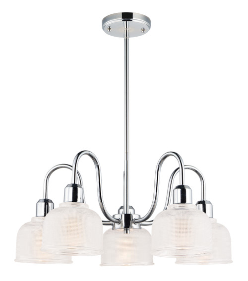 Maxim Hollow 5-Light Chandelier in Polished Chrome