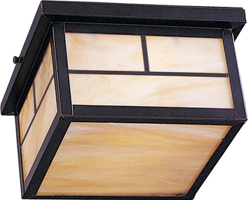 Maxim Coldwater 2-Light Outdoor Ceiling Mount in Burnished