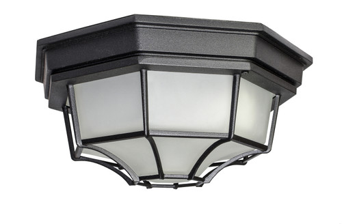Maxim Crown Hill LED 1-Light Outdoor Ceiling Mount in Black