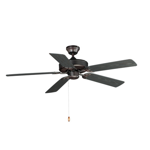 """Maxim Basic-Max 52"""" Outdoor Ceiling Fan in Oil Rubbed Bronze"""