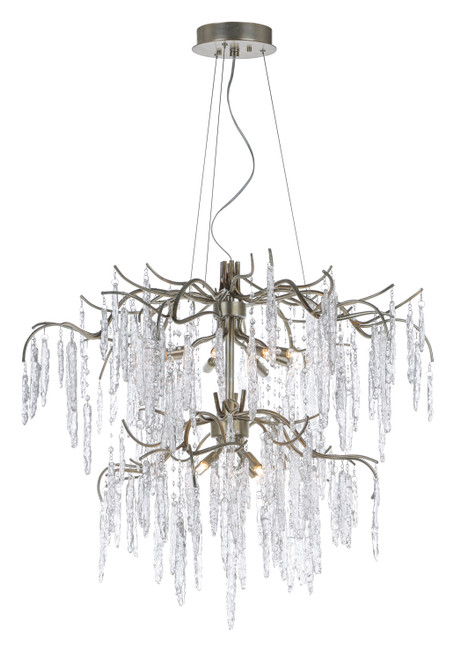 Maxim Willow 12-Light Chandelier in Silver Gold