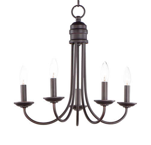 Maxim Logan 5-Light Candle Chandelier in Oil Rubbed Bronze