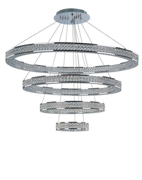 """Maxim Eternity 4 Tier 40"""" LED Chandelier in Polished Chrome"""