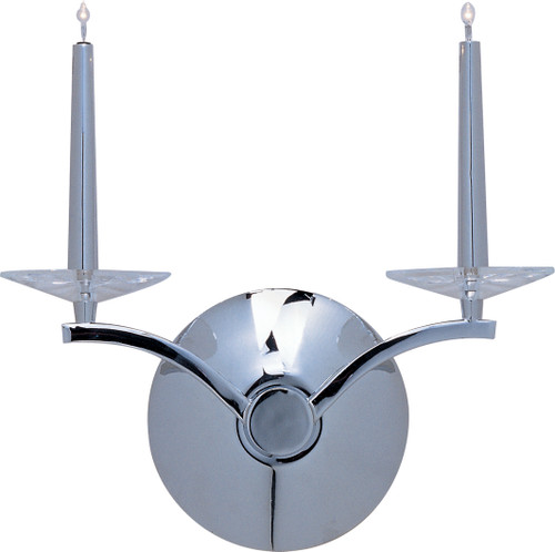 ET2 Circolo 2-Light Wall Sconce in Polished Chrome