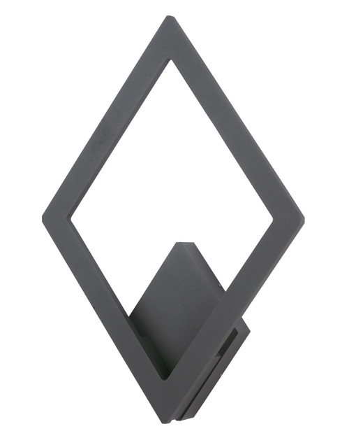 ET2 Alumilux Rhombus LED Outdoor Wall Sconce in Bronze