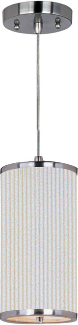 ET2 Elements 1-Light Pendant with Cord in Satin Nickel