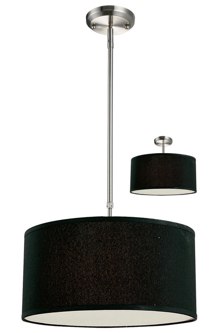 Z-Lite Albion Collection 3 Light Pendant in Brushed Nickel Finish, 171-16B-C