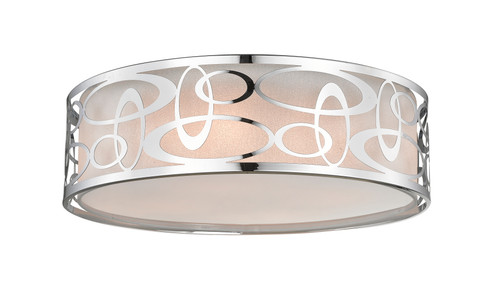 Z-Lite Opal Collection 4 Light Pendant in Chrome Finish, 195-20F-CH