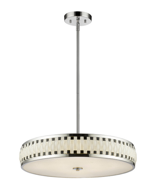 Z-Lite Sevier Collection LED Pendant in Chrome Finish, 2008-23CH-LED