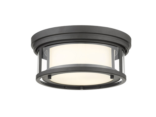 Z-Lite Willow Collection 2 Light Flush Mount in Bronze Finish, 426F12-BRZ