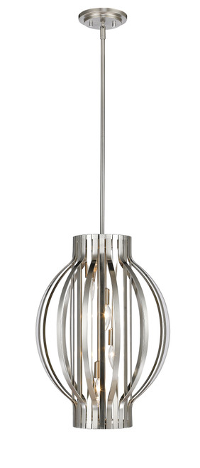Z-Lite Moundou Collection 4 Light Pendant in Brushed Nickel Finish, 436-16BN