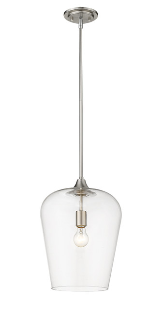 Z-Lite Joliet Collection 1 Light Pendant in Brushed Nickel Finish, 473P12-BN