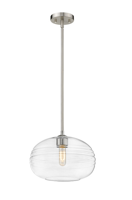 Z-Lite Harmony Collection 1 Light Pendant in Brushed Nickel Finish, 486P14-BN