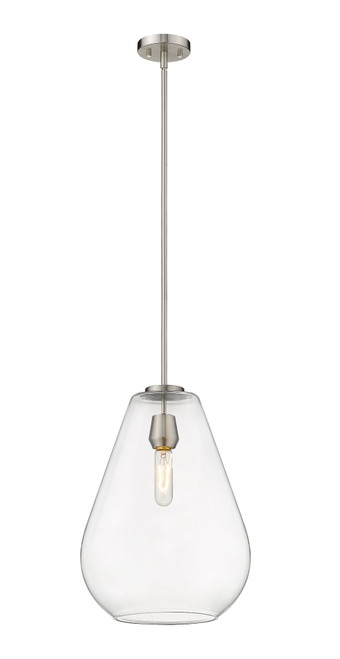 Z-Lite Ayra Collection 1 Light Pendant in Brushed Nickel Finish, 488P12-BN