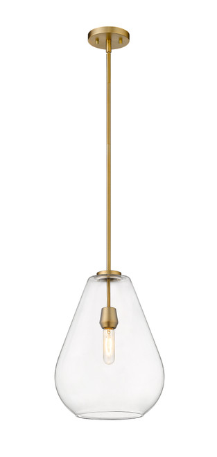 Z-Lite Ayra Collection 1 Light Pendant in Olde Brass Finish, 488P12-OBR