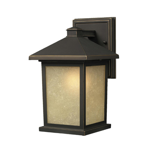 Z-Lite Holbrook Collection Outdoor Wall Light in Oil Rubbed Bronze Finish, 507M-ORB