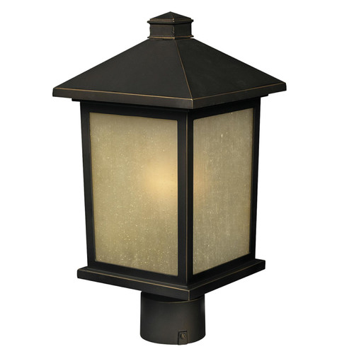 Z-Lite Holbrook Collection Outdoor Post Light in Oil Rubbed Bronze Finish, 507PHB-ORB