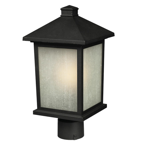 Z-Lite Holbrook Collection Outdoor Post Light in Black Finish, 507PHM-BK