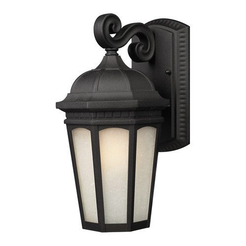 Z-Lite Newport Collection Outdoor Wall Light in Black Finish, 508M-BK