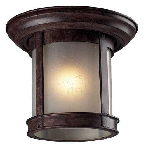 Z-Lite Outdoor Flush Mount Collection Outdoor Flush Mount Light in Weathered Bronze Finish, 514F-WB