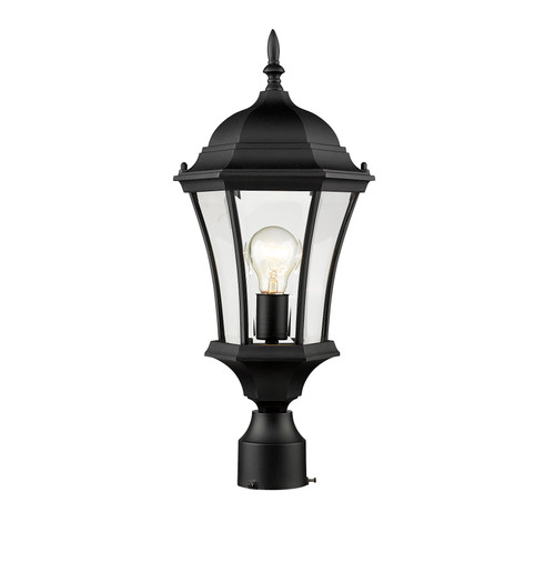 Z-Lite Wakefield Collection Outdoor Post Light in Black Finish, 522PHM-BK