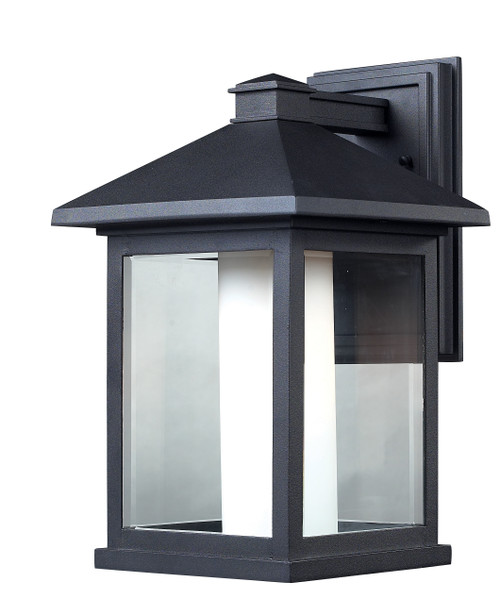 Z-Lite Mesa Collection Outdoor Wall Light in Black Finish, 523B