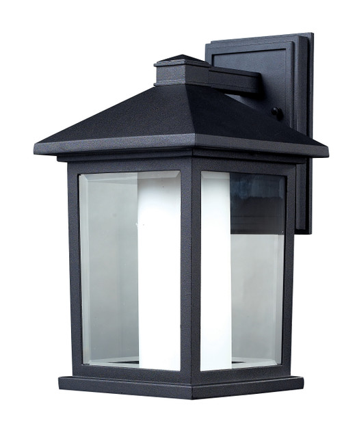 Z-Lite Mesa Collection Outdoor Wall Light in Black Finish, 523M
