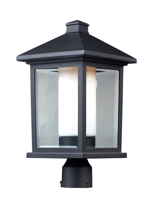 Z-Lite Mesa Collection Outdoor Post Light in Black Finish, 523PHB