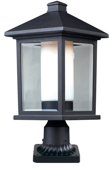 Z-Lite Mesa Collection Outdoor Pier Mount Light in Black Finish, 523PHB-PM